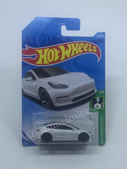 Miniatura Tesla Model 3 Hot Wheels 1/64