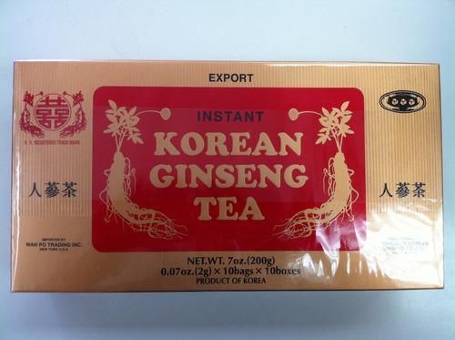 Té Ginseng Korean, Reconstituyente Energizante Estimulante