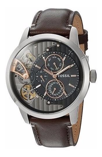 Relógio Fossil Masculino Automatico Me1163/0pn Esqueleto