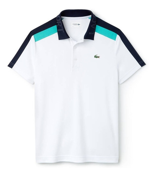 Polo Lacoste Sport Pique Technical Ultra Dry 2xl White/aqua