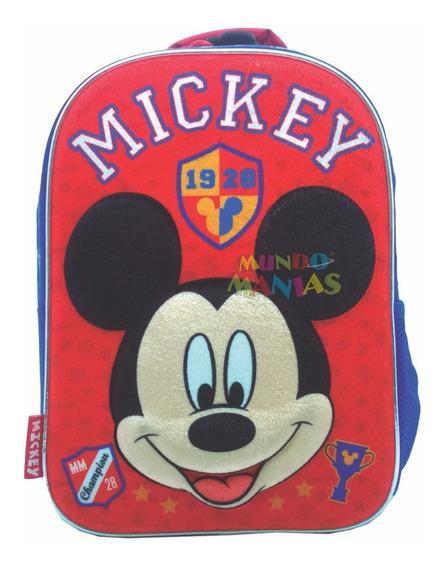 Mochila Espalda Jardin 3d Disney Mickey Original Mundomanias