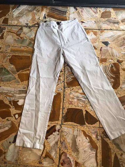 Dkny Donna Karan Ny Pantalón Gabardina Beige Leggings Jean
