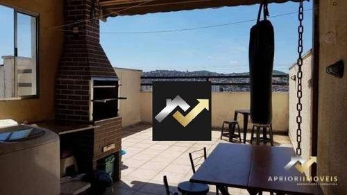 Cobertura Com 2 Dormitórios À Venda, 80 M² Por R$ 265.000 - Vila Junqueira - Santo André/sp - Co0530