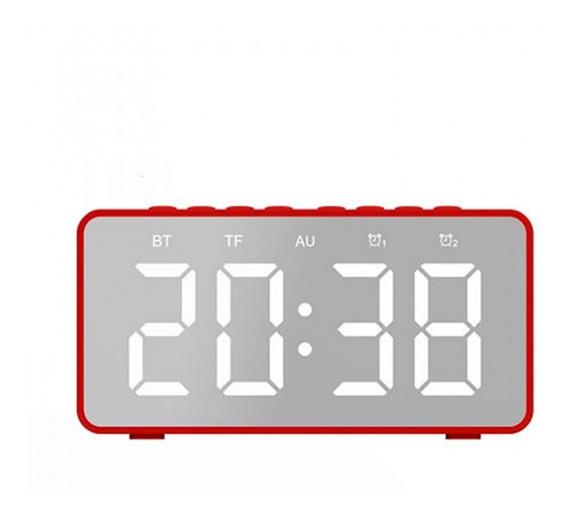 Caixa De Som Bluetooth 5.0 C/ Relógio Despertador E Espelho