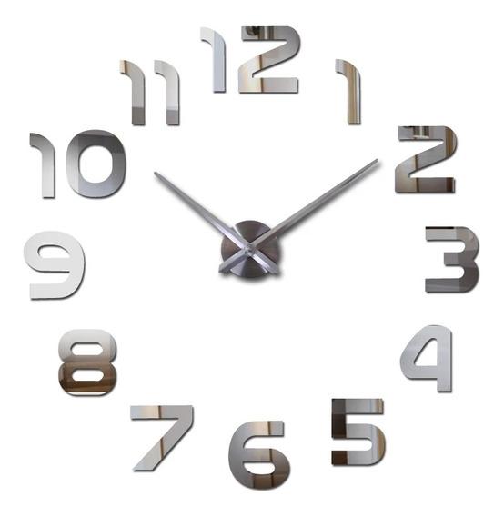 Relógio De Parede Metal Decorativo 3d Grande Pronta Entrega