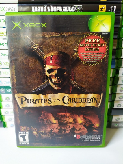 Pirates Of The Caribbean Xbox Clássico Raro Piratas Do Carib