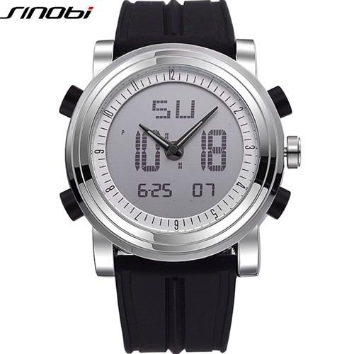 Relogio Sinobi 9368 Esportivo Fashion Casual Quartzo Digital