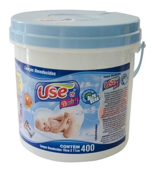 Balde Toalhas Umedecidas Use It Baby Com 400 Unidades