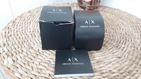 Caixa Do Relógio Armani Exchange Ax Com Manual 100% Original