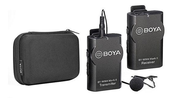 Microfone Boya Lapela Sem Fio By-wm4 Mark Ii Lançamento 50m