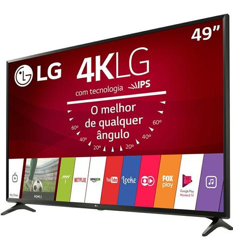 Imagem 1 de 12 de Smart Tv Led 49  Ultra Hd 4k LG 49uj6300