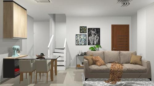 Cobertura Com 2 Dormitórios À Venda, 90 M² Por R$ 370.000,00 - Vila Pires - Santo André/sp - Co1252