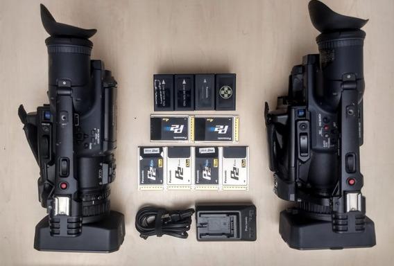2 Câmeras Vídeo Panasonic Ag-hvx200 Hd - Valor Reduzido