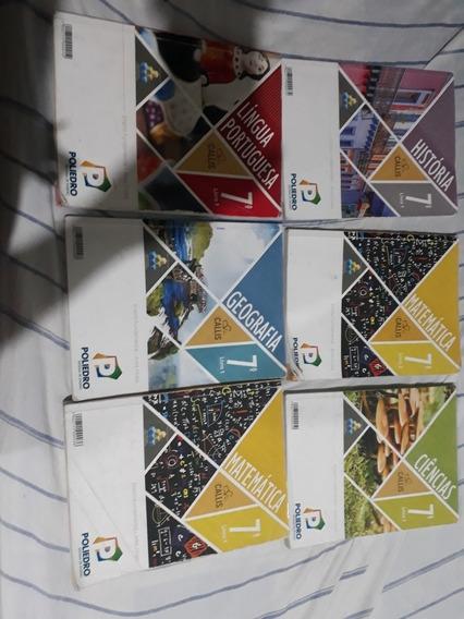Livros Material Poliedro Completo 7° Ano 12 Livros No Total
