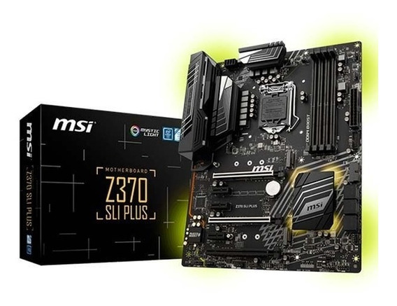 Placa Mae Msi Z370 Sli Plus Ddr4 Lga1151 Chipset Intel Z370