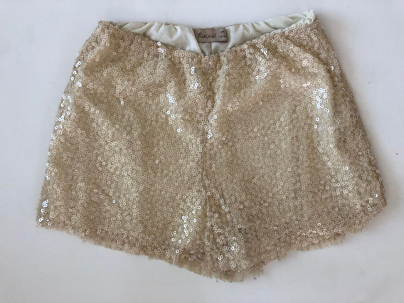 Short Bordado Beige Rimmel Impecable