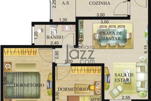 Apartamento Com 2 Dormitórios À Venda, 69 M² Por R$ 225.000,00 - Jardim Marajoara - Nova Odessa/sp - Ap3407