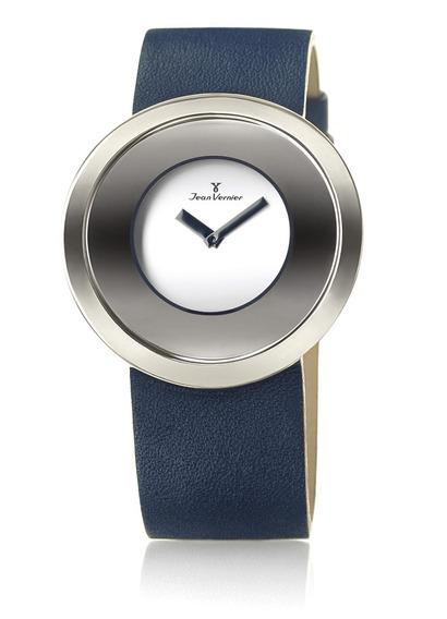 Relógio Jean Vernier Fundo Sofisticado Caixa Aço Dia A Dia