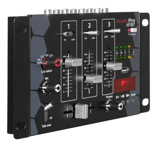 Mezclador Mixer De Audio 3 Canales Ap3bt Audiopro Bluetooth