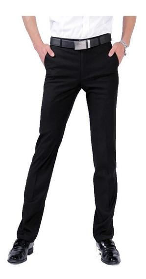 Pantalon Vestir Hombre Negro Sport Oficina Empresa+