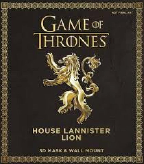 Game Of Thrones Mask - House Lannister Lion - 3d Mask & Wall