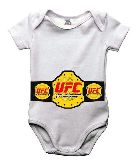 Body Bebe Ou Camiseta Infantil Ufc Cinturão Campeão Mma