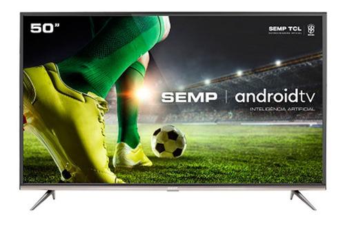 Imagem 1 de 5 de Smart Tv 50 Semp 4k Voz Android Sk8300
