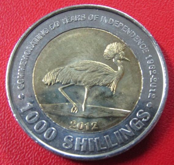 Uganda Moneda Bimetalica 1000 Shillings 2012 Unc Km 278