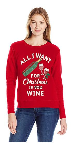 Mujer Sweater Feo Christmas Ugly Suéter Navidad Hanes 2xl