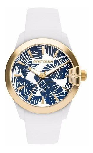 Relógio Mormaii Feminino Branco Pulseira Silicone Original