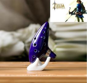 Ocarina Of Time The Legend Of Zelda 12 Furos Cerâmica Barato
