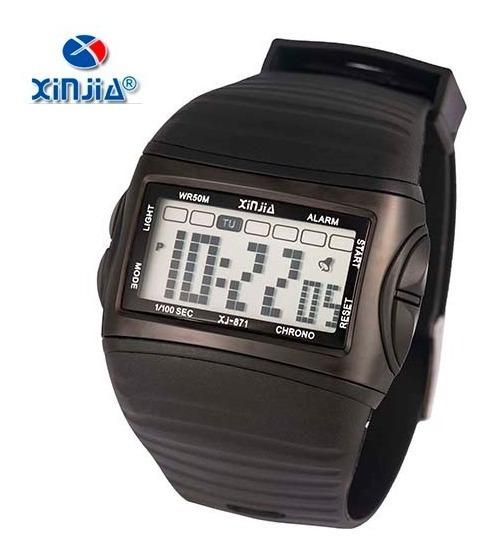 Relógio Digital Masculino Original Xinjia Xj-871 Prova D