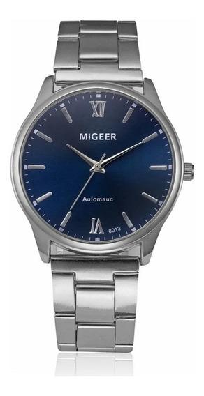 Relógio De Pulso Masculino Migeer 8013 Em Aço Inox Luxo-novo