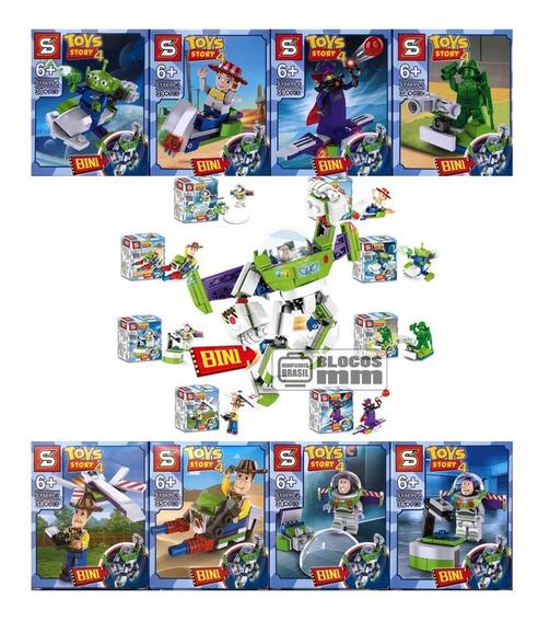 Kit Toy Story 4 Filme Buzzlightyear 8x Boneco Minifigure