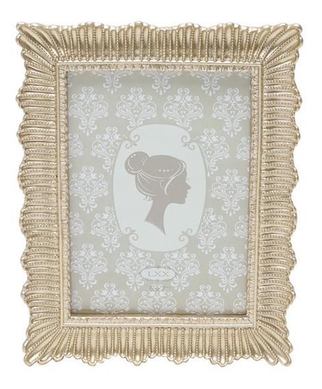 Porta-retrato Em Resina Royal Decor 13x18cm Dourado 60493