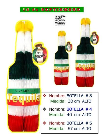 Decoración Botella Tequila Grande Fiestas Mexicana, 1 Pz