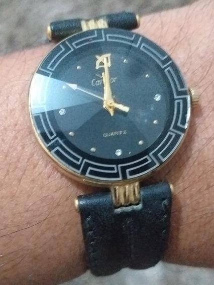 Relógio Condor Feminino Versace Quartz 2035 Lindo S Bateria