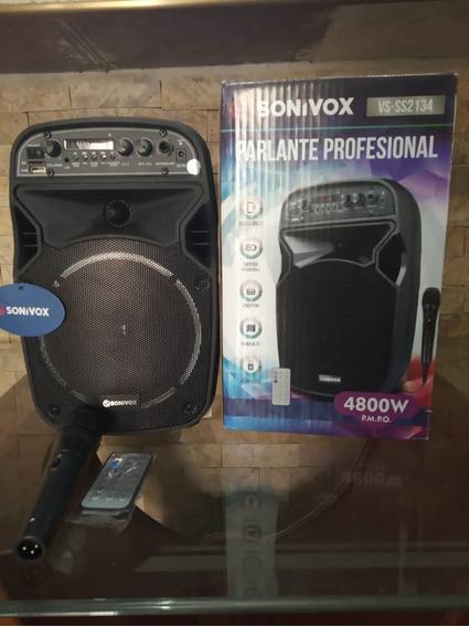 Parlante Profesional Trae Micrófono Y Control