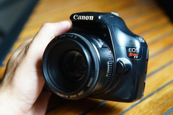 Canon T3 + Lente 50mm F1.8