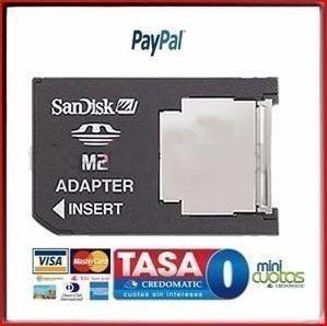 Imagen 1 de 1 de Adaptador M2 A Memory Stick Ms Pro Duo Psp Sony Tf