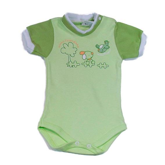 Body Bebê Manga Curta Minha Fazendinha Verde Petutinha