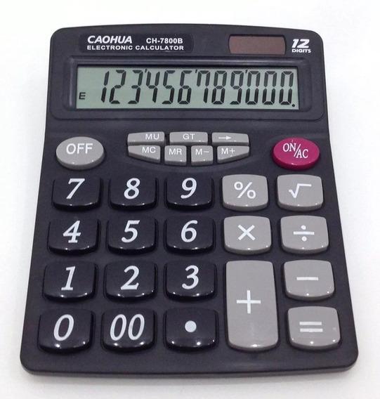 Calculadora De Mesa Convencional Números Grande 7800b Caohua