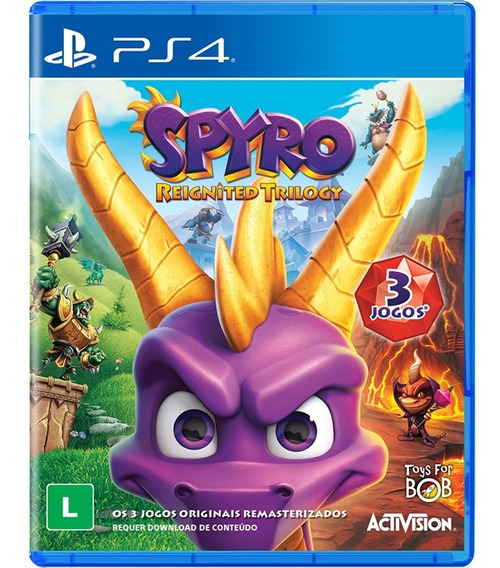 Jogo Spyro Reignited Trilogy - Ps4 - Novo - Mídia Física