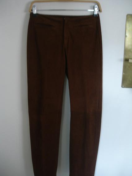 Pantalon Cuero Cabrito Gamuzado Dama Talle S ¡impecable!