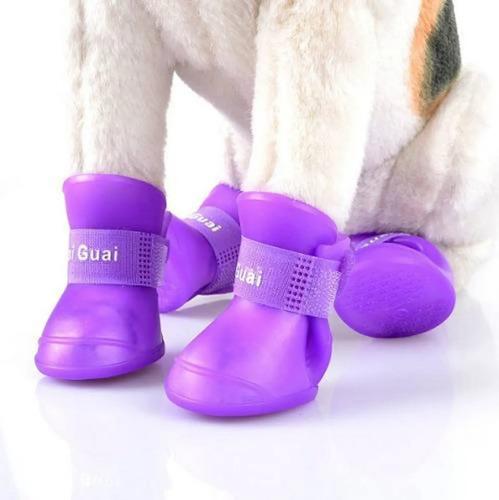 Botitas De Perro X4 S M O L Botas De Lluvia Silicona Zapato