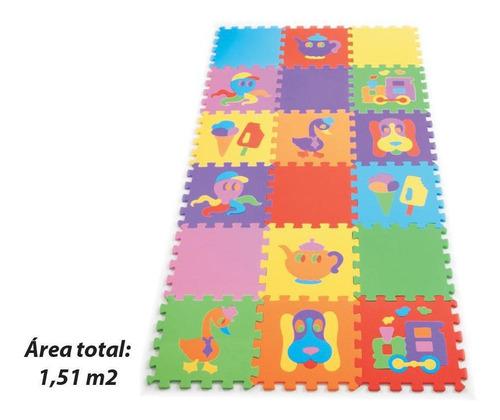 Tapete Tatame Infantil Texturizado 18 Peças