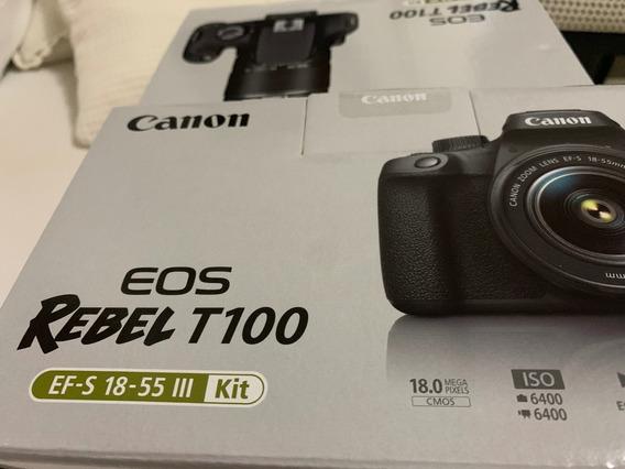 Câmera Canon Eos Rebel T100, Nf + Garantia, Lacrada, 18-55mm