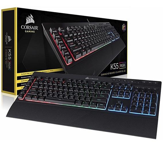 Teclado Corsair Gamer K55 Rgb Abnt2