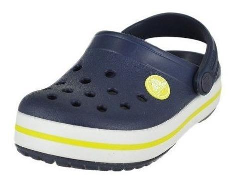Sandália Crocs Crocband Infantil Original Navy/citrus + Nfe