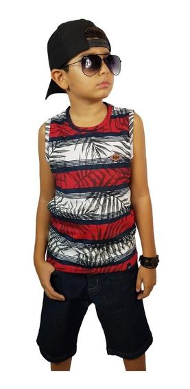 Kit 06 Camisetas Regatas Lindas Infantil Juvenil - Top